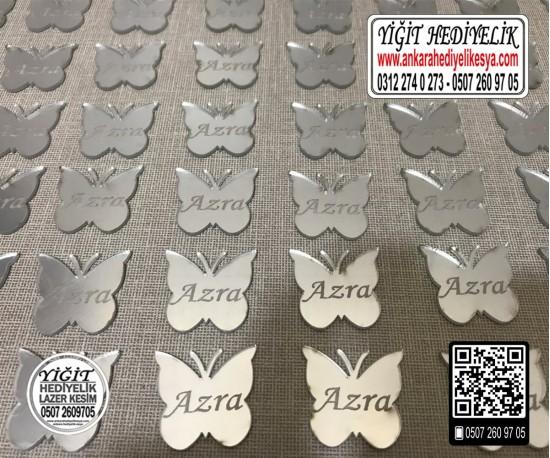 Pleksi Kelebek Ayna Etiket